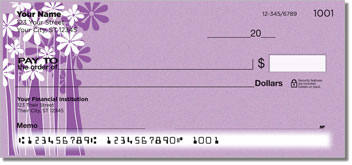 Daisy Silhouette Personal Checks