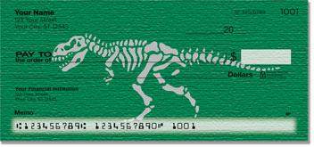 Dino Skeleton Personal Checks