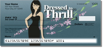 Dressed to Thrill Personal Checks