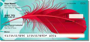 Fancy Feather Personal Checks