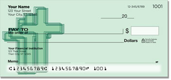 Cross Symbol Personal Checks