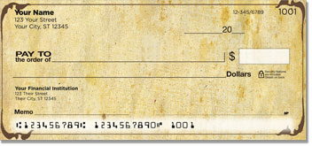 Aged Parchment Personal Checks