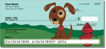 Perky Puppy Illustrations Checks