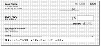 Diamond Pattern Personal Checks
