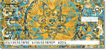 Ornamental Star Personal Checks