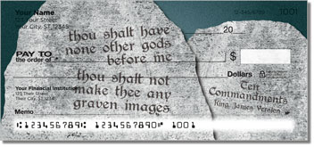 Ten Commandments Personal Checks