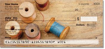 Antique Spool Personal Checks