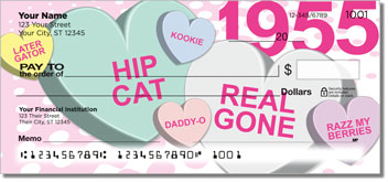 Candy Heart Personal Checks