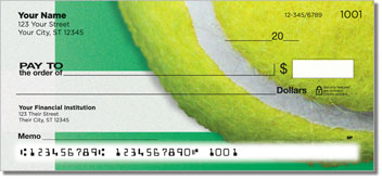 Classic Tennis Ball Personal Checks