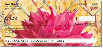Floral Series 4 Personal Checks