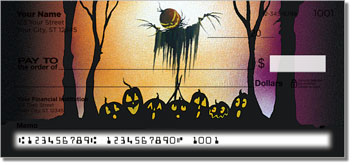 Scary Scarecrow Personal Checks
