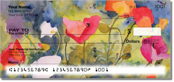 Kay Smith Poppy Personal Checks