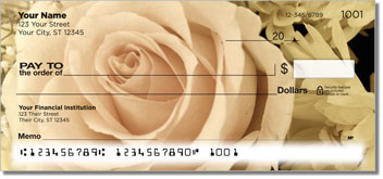 Beautiful Rose Personal Checks