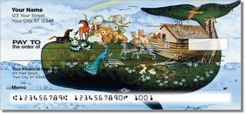Floral Whale Personal Checks