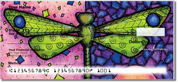 Dragonfly Art Personal Checks