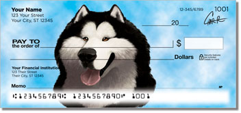 Alaskan Malamute Art Checks
