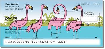 Scrivan Flamingos Personal Checks