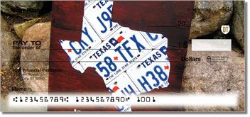Texas License Plate Personal Checks
