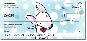 Bull Terrier Cartoon Series Checks