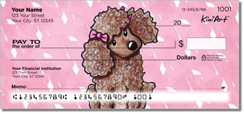 Cartoon Poodles Series Personal Checks
