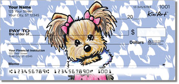 Cartoon Yorkies Series 1 Checks