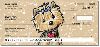 Cartoon Yorkies Series 2 Checks