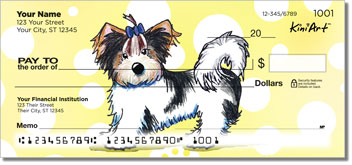 Cartoon Yorkies Series 3 Checks