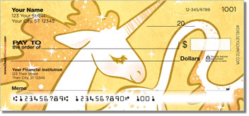Cute Unicorn Personal Checks
