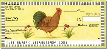 Country Rooster Checks