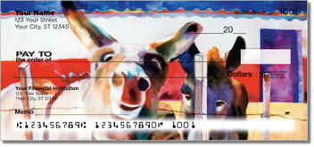 Kay Smith Donkey Personal Checks