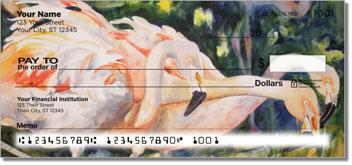 Kay Smith Flamingo Personal Checks