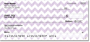 Sassy Chevron Personal Checks