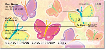 Colombo Butterfly Personal Checks