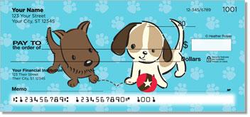 Naughty Puppy Personal Checks