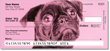 Colorful Pugs Personal Checks