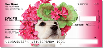 Pup in Bloom 1 Personal Checks