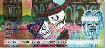 Day of the Dead Skull Personal Checks