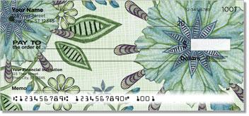Vintage Nouveau Floral Personal Checks