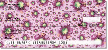 Violet Poppies Personal Checks