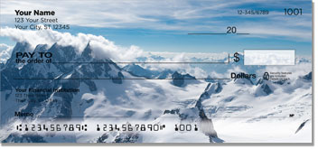 Snowcapped Mountain Personal Checks