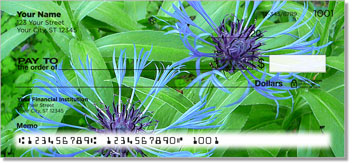 Blue Flower Checks