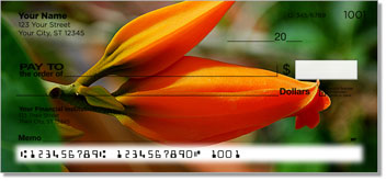 Orange Flower Personal Checks