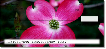 Pink Flower Personal Checks