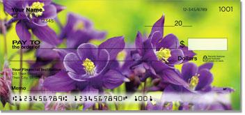 Purple Flower Personal Checks