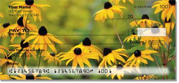 Yellow Flower Personal Checks