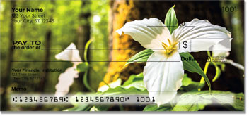 White Trillium Personal Checks