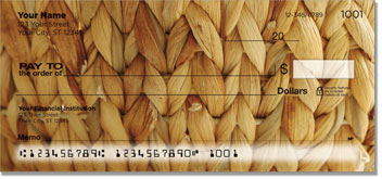 Woven Basket Personal Checks