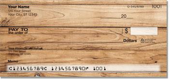 Wood Grain Personal Checks