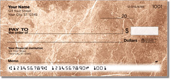 Tan Marble Personal Checks