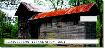 Rustic Building Personal Checks